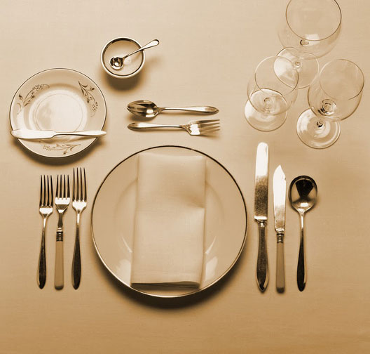 Russian Ala-carte Table Setting : alakart kuver a la carte