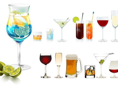 cocktail glasses Bar ve Barda Kokteyl Yapımı